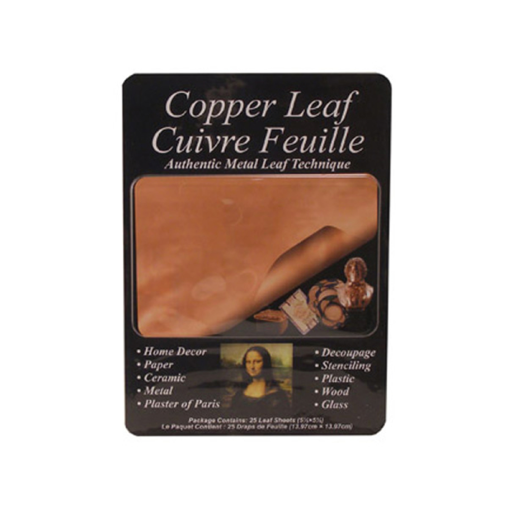 Mona Lisa Genuine Copper Metal Leaf Pkg/25 Sh
