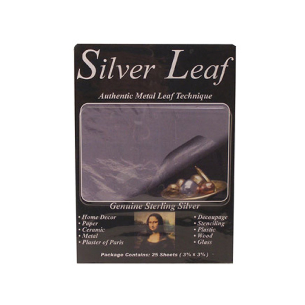 Sterling Silver Genuine Metal Leaf Pkg/25