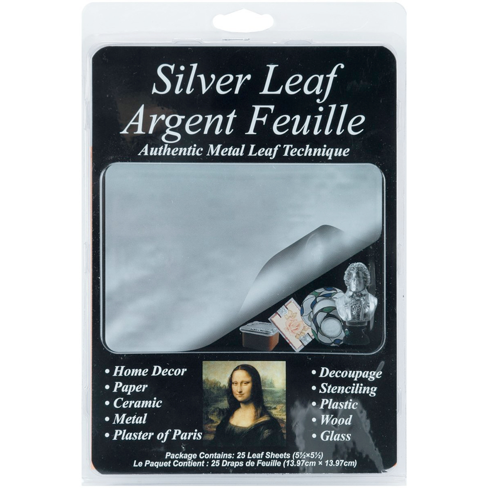 Mona Lisa Imitation Silver Metal Leaf Pkg/25