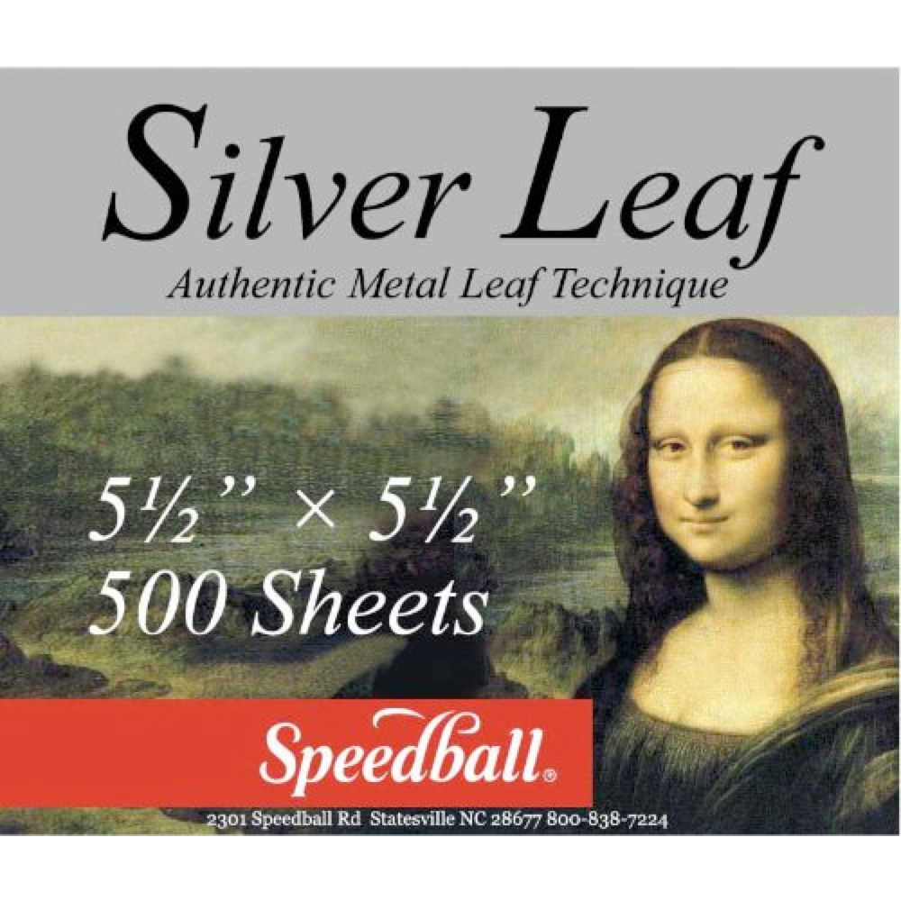 Mona Lisa Imitation Silver Metal Leaf Bulk/50