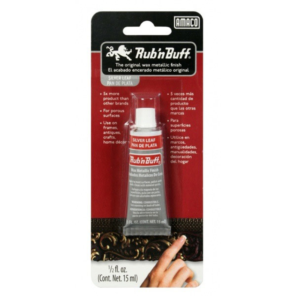 Rub N' Buff 1/2 Oz Silver Leaf