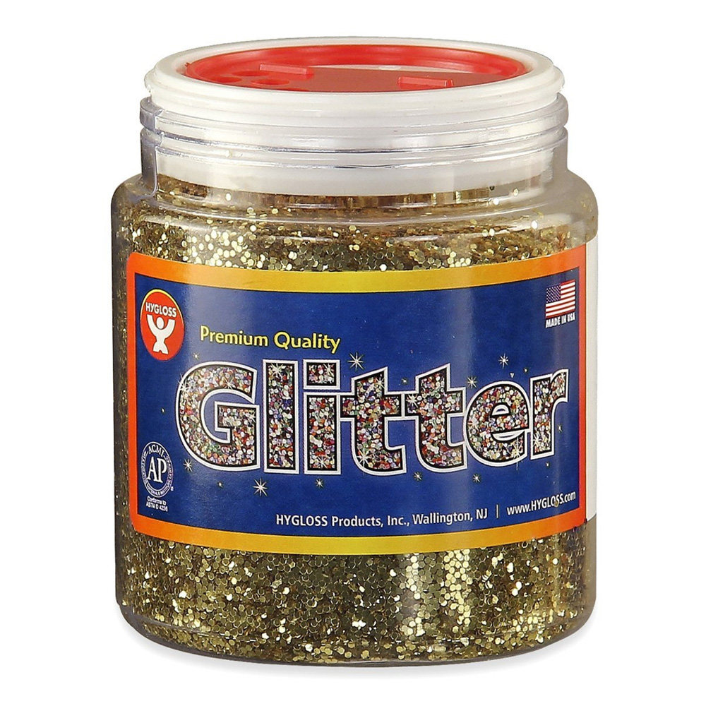 Glitter 4 Oz Jar Gold
