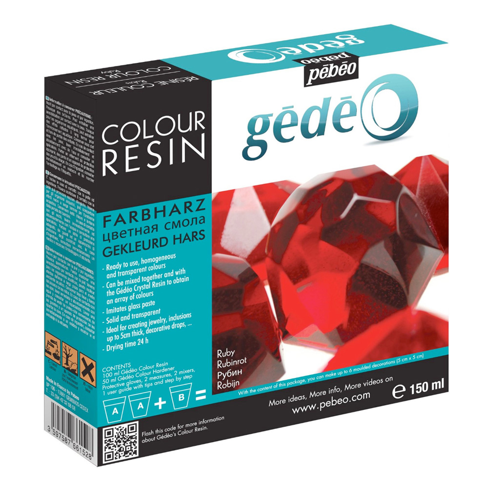 Gedeo Color Resin Ruby 150Ml