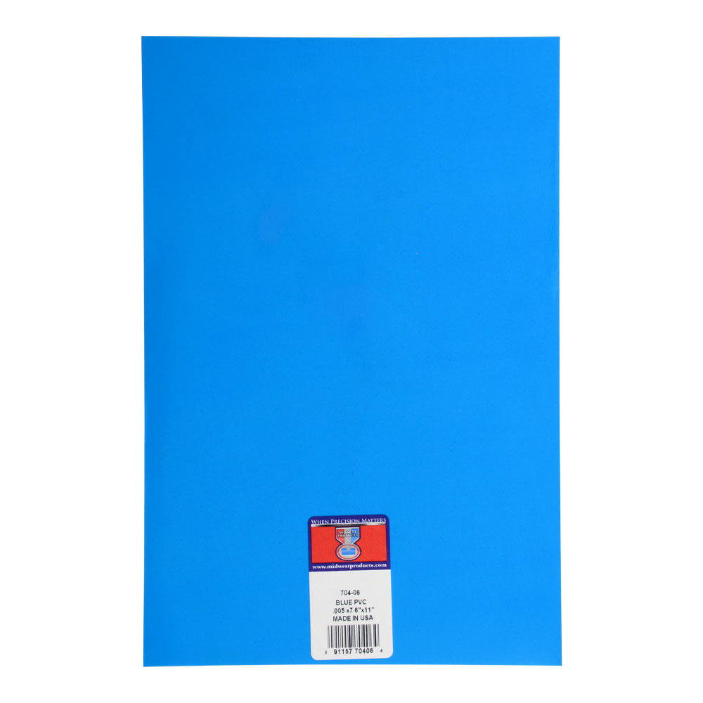 Pvc Sheet Blue .005 X 7.6 X 11 Inches
