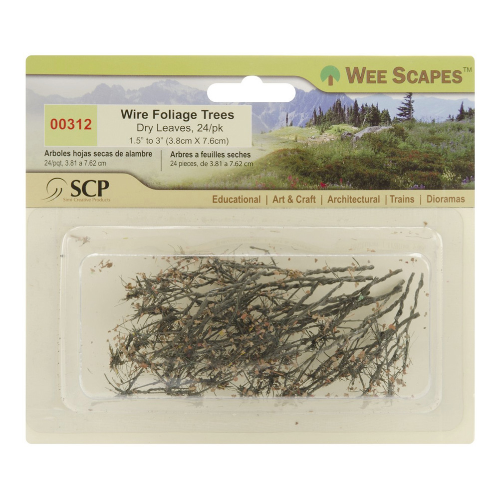 Dry Leaves Wire Trees 24/Pk