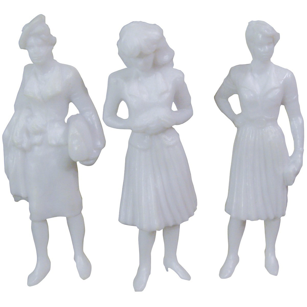 Female Figures White 3In 3/Pk
