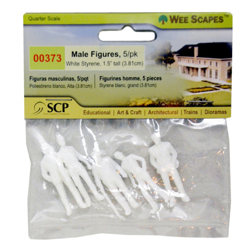 Male Figures White 1.5In 5/Pk