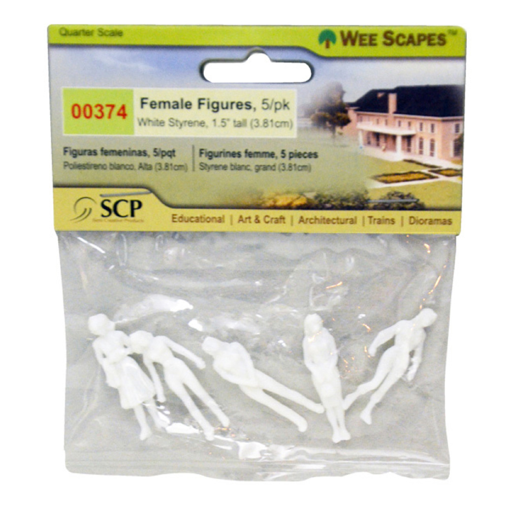 Female Figures White 1.5In 5/Pk