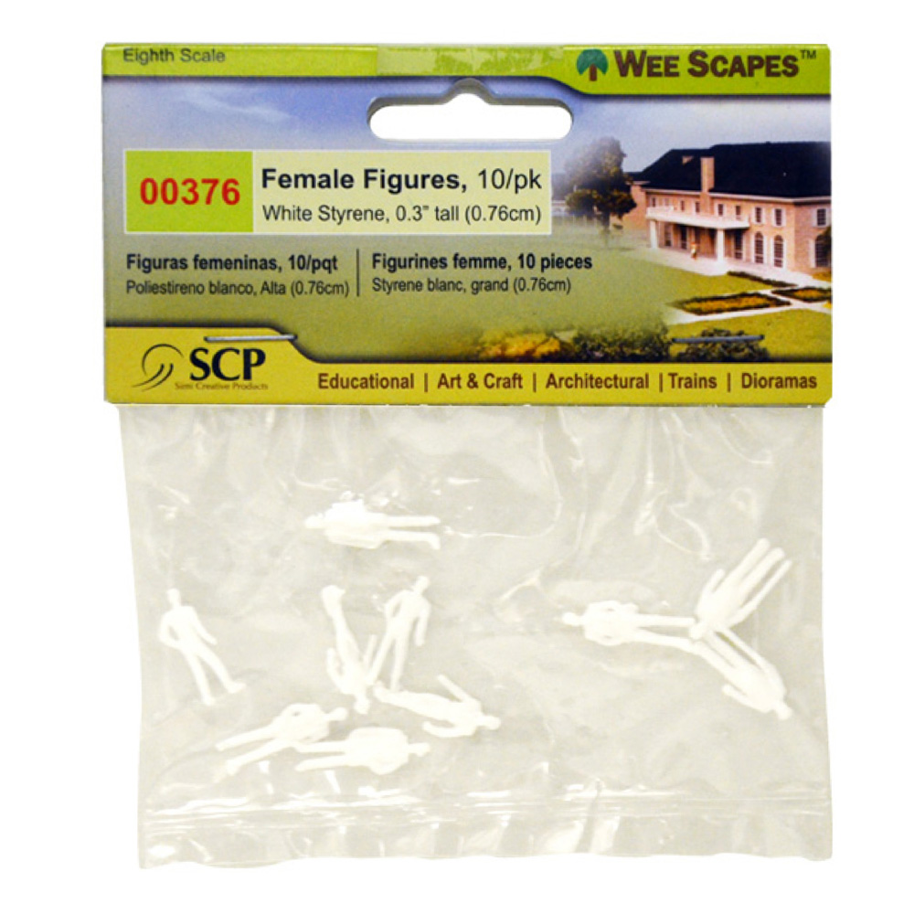 Male Figures White .3In 10/Pk