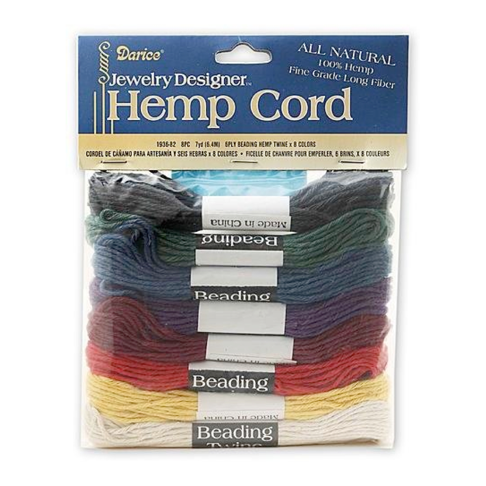Hemp Cord 6-Ply 7-Yd Skeins 8-Colors