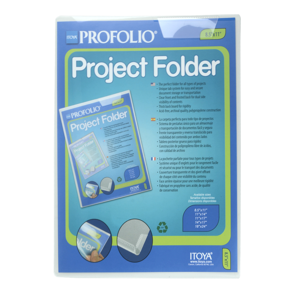 Itoya Profolio Project Folder 8.5 X 11