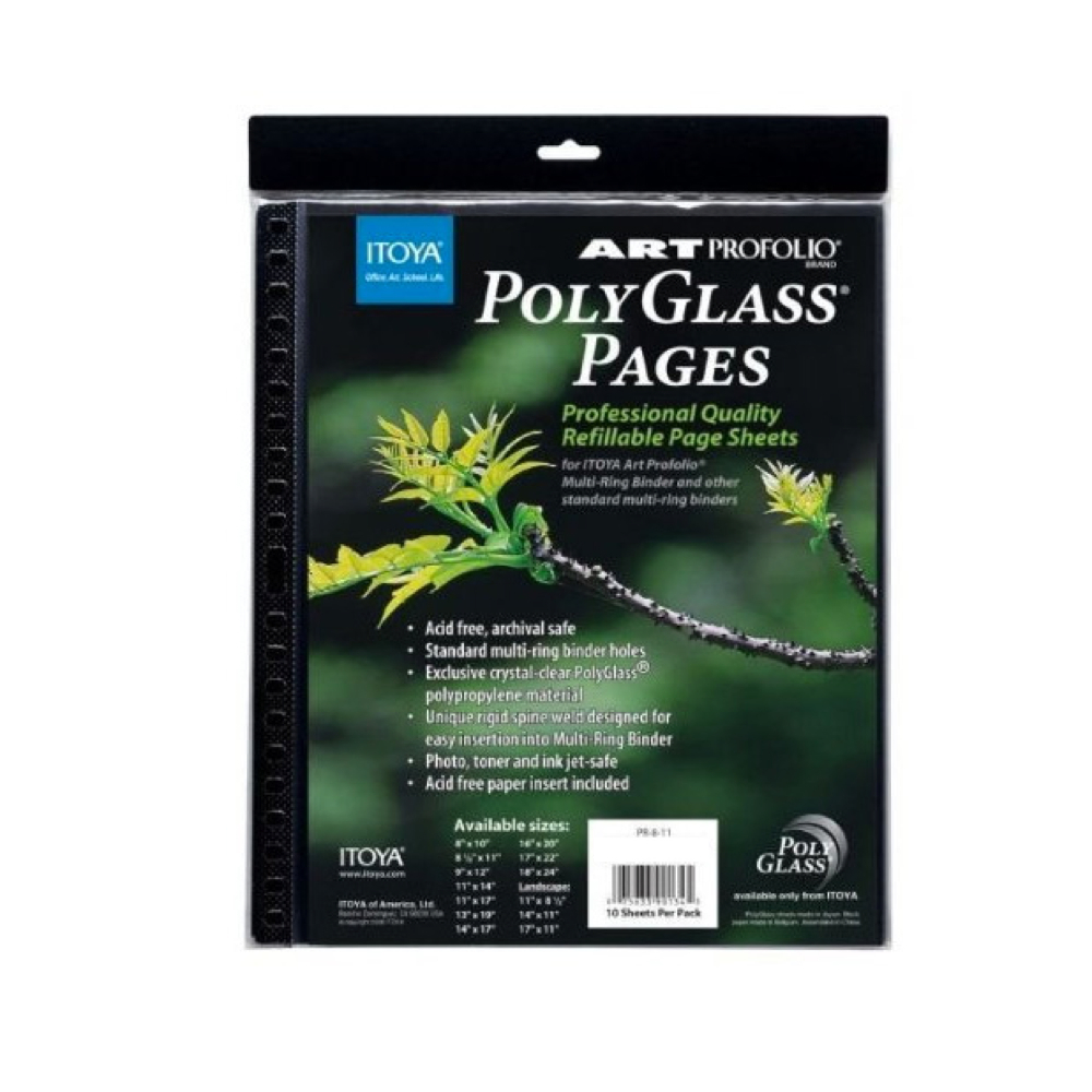 Itoya Polyglass Refill Pages 13X19 Pack/10