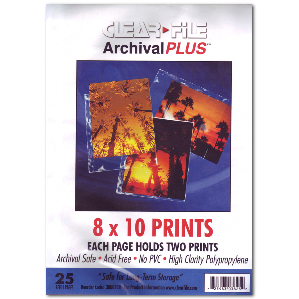 Archival Plus Pages 8X10 Prints Pk/25
