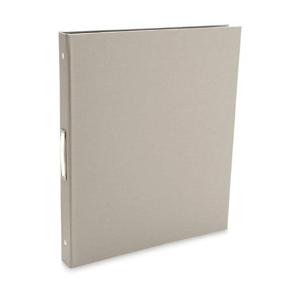 Pina Bex Gray 3-Ring Binder 8.5X11X.5