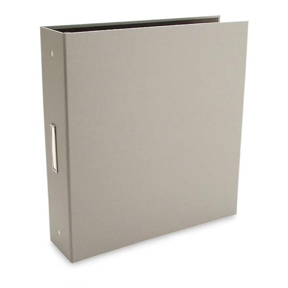 Pina Bex Gray 3-Ring Binder 11X8.5X2