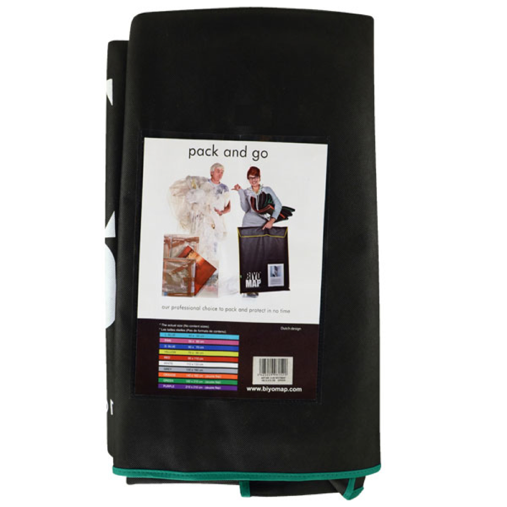 Biyomap Art Storage Bag 63X82 Black/Green