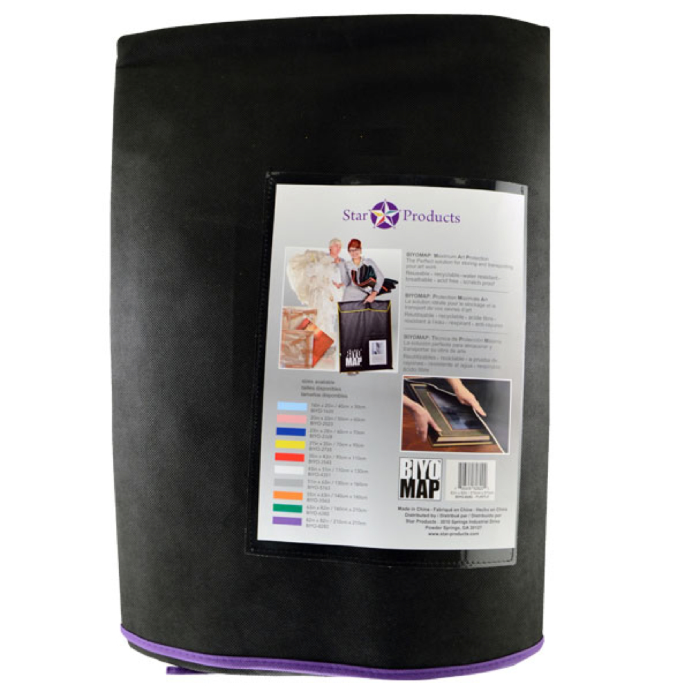 Biyomap Art Storage Bag 82X82 Black/Purple