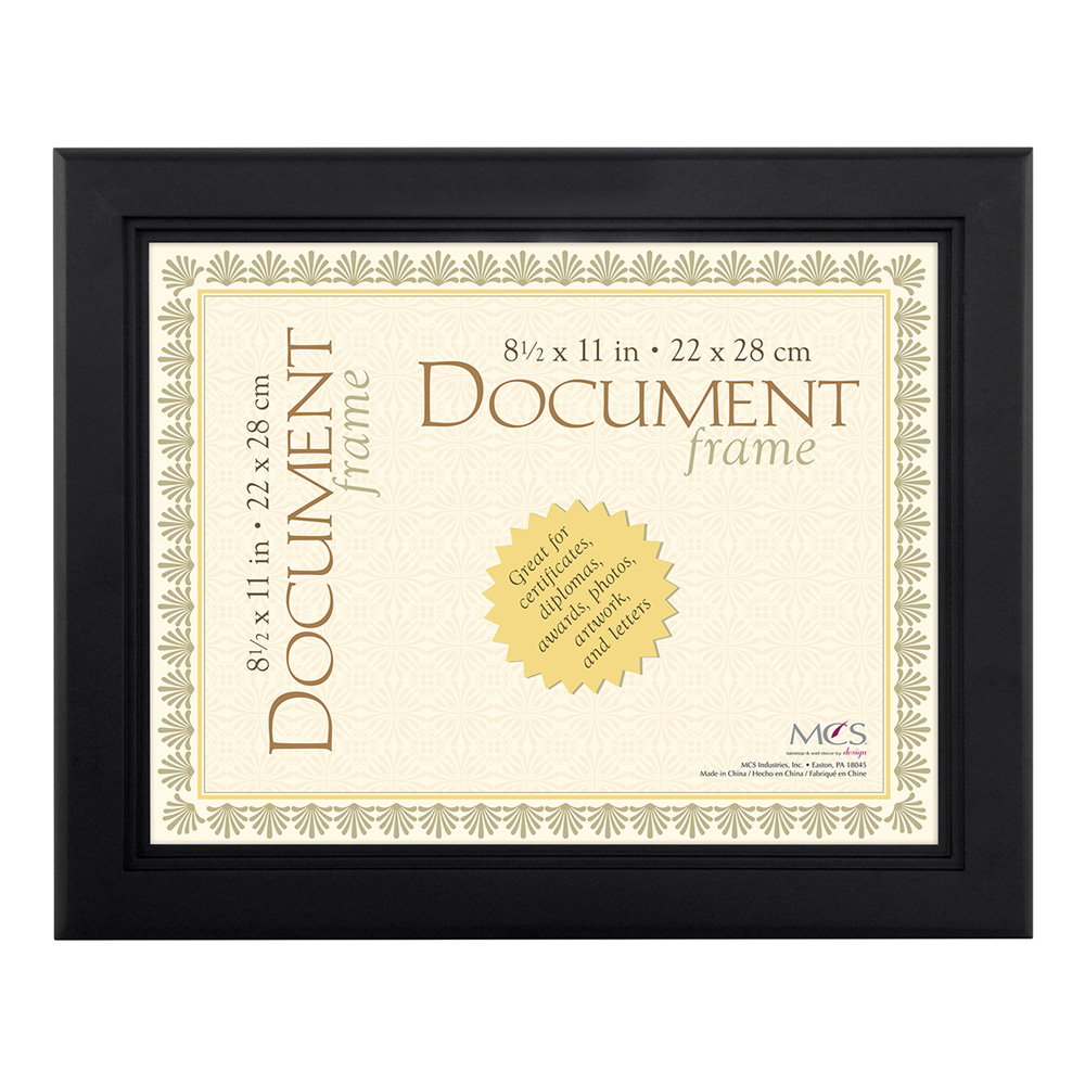 Document Frame Step Black 8.5X11