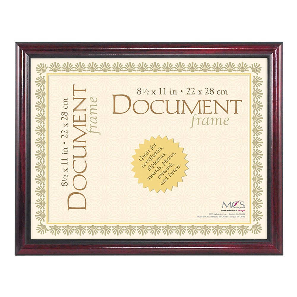 Document Frame University Mahogany 8.5X11