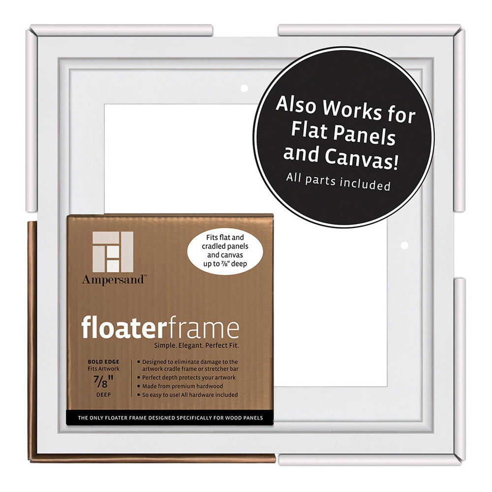 BUY Ampersand Float Frame 7/8In Thin 12X12 White