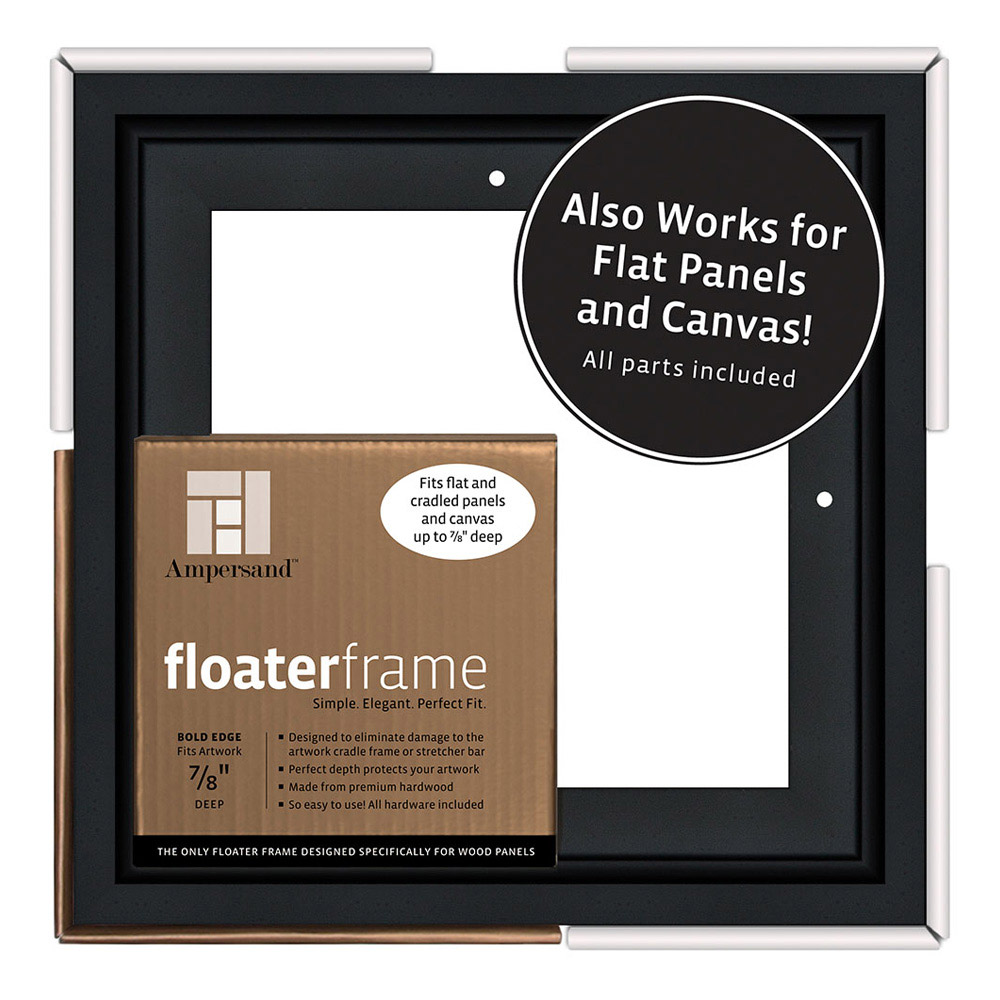 Ampersand Float Frame 1.5In Thin 16X20 Black