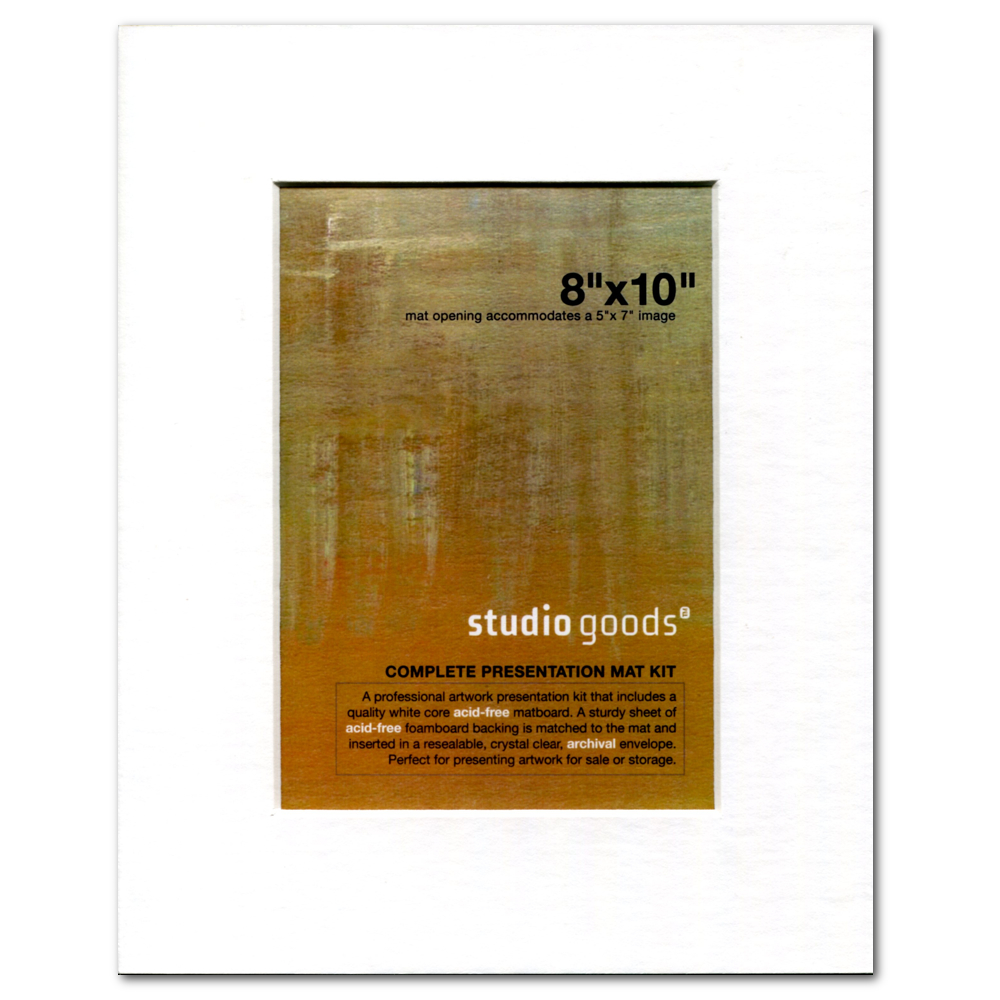 Studio Goods Mat Kit 8X10 Paper White