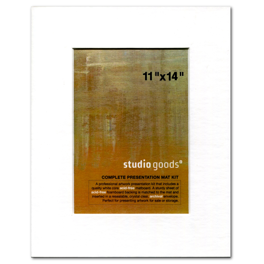 Studio Goods Mat Kit 11X14 Paper White