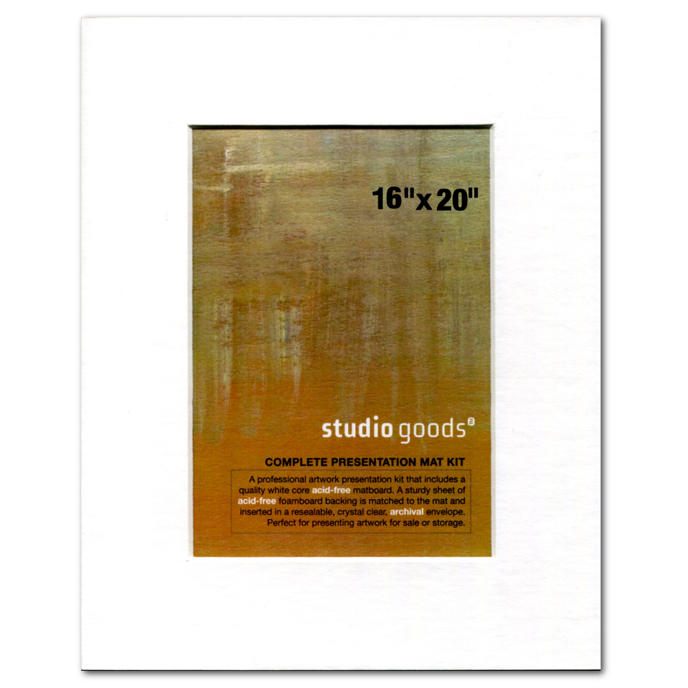 Studio Goods Mat Kit 16X20 Paper White