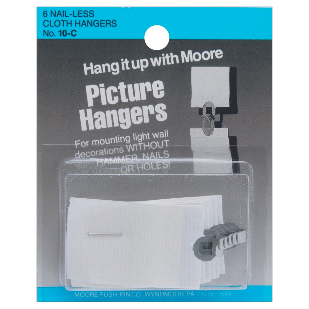 Moore Cloth Picture Hangers Pkg 6