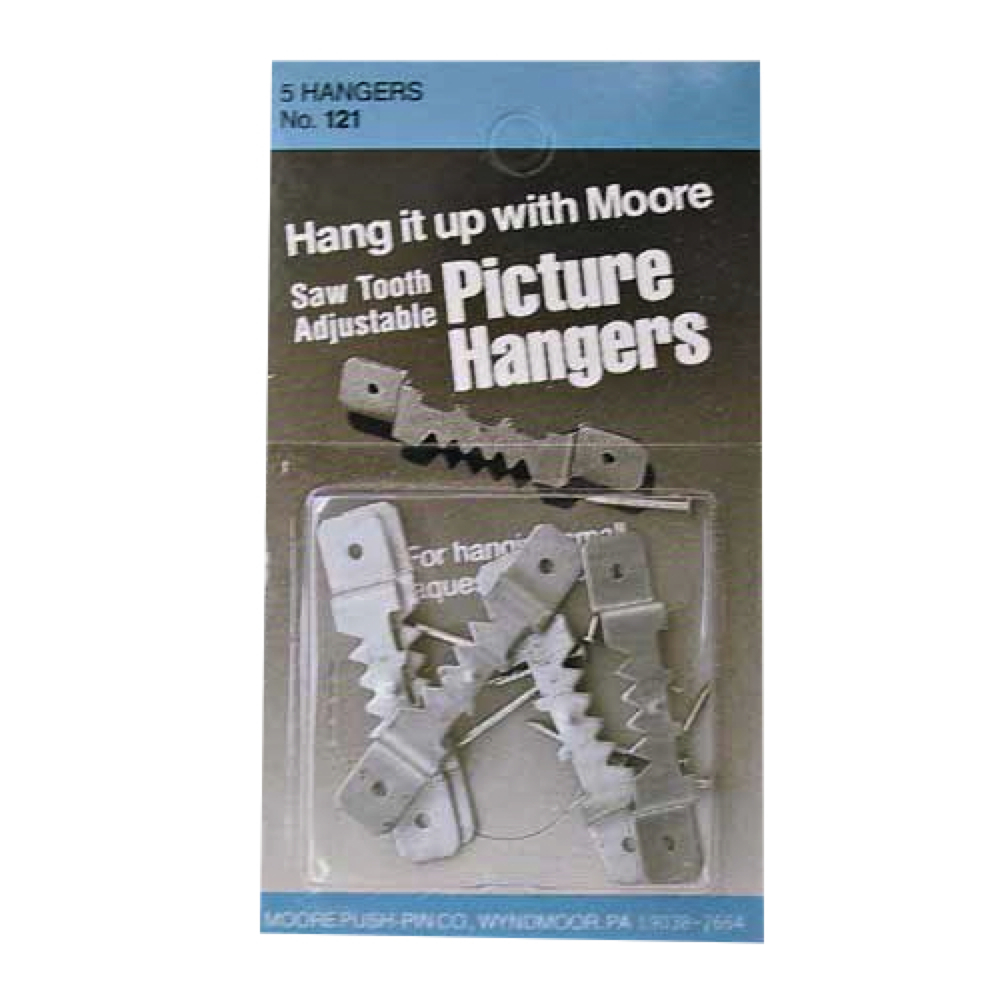 Moore Small Adjustable Sawtooth Hangers 4/Pk