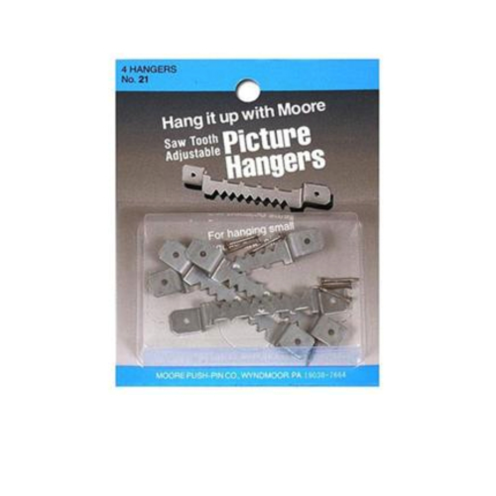 Moore Large Adjustable Sawtooth Hangers 4/Pk