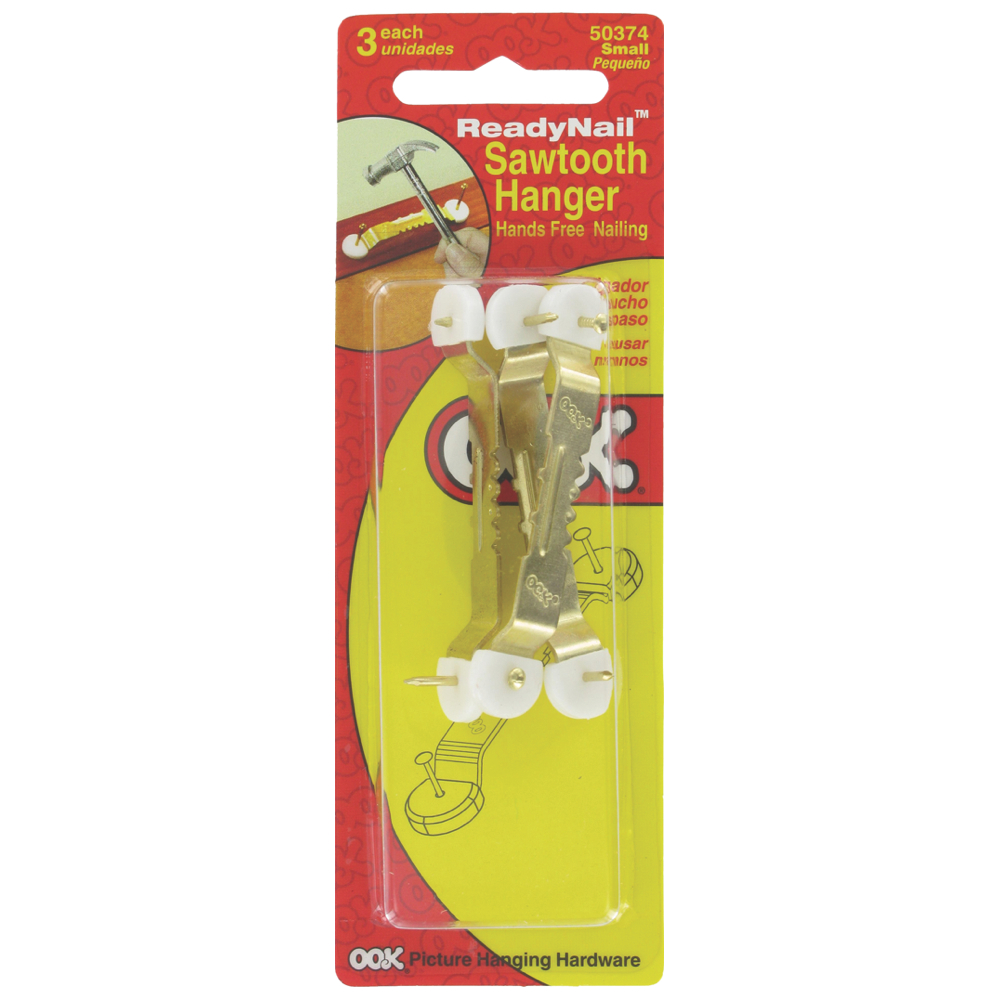 Ook Ready Nail Sawtooth Hanger Small Pk/3