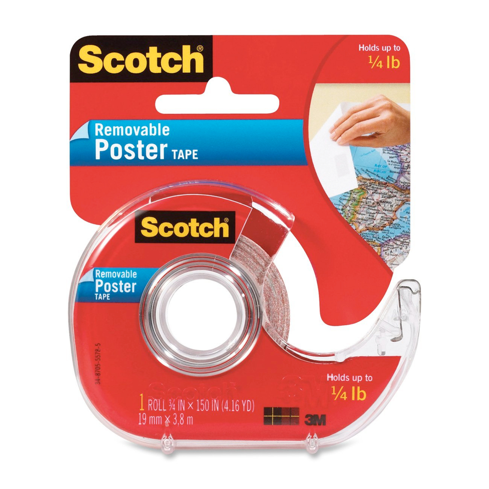 3M Removable Poster Tape 3/8 X 150In Roll