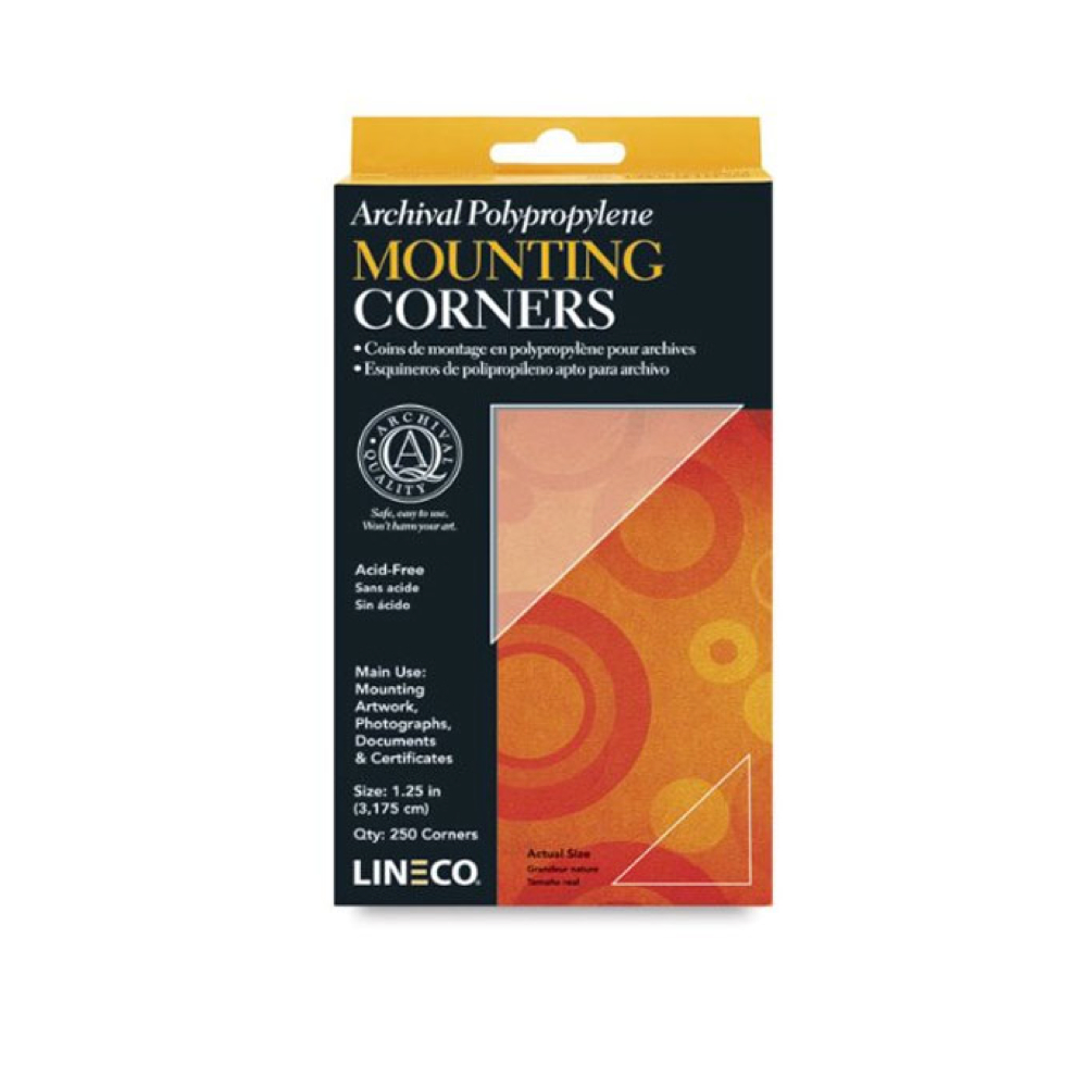Polypropylene 1.25In Mounting Corners 250 Pkg