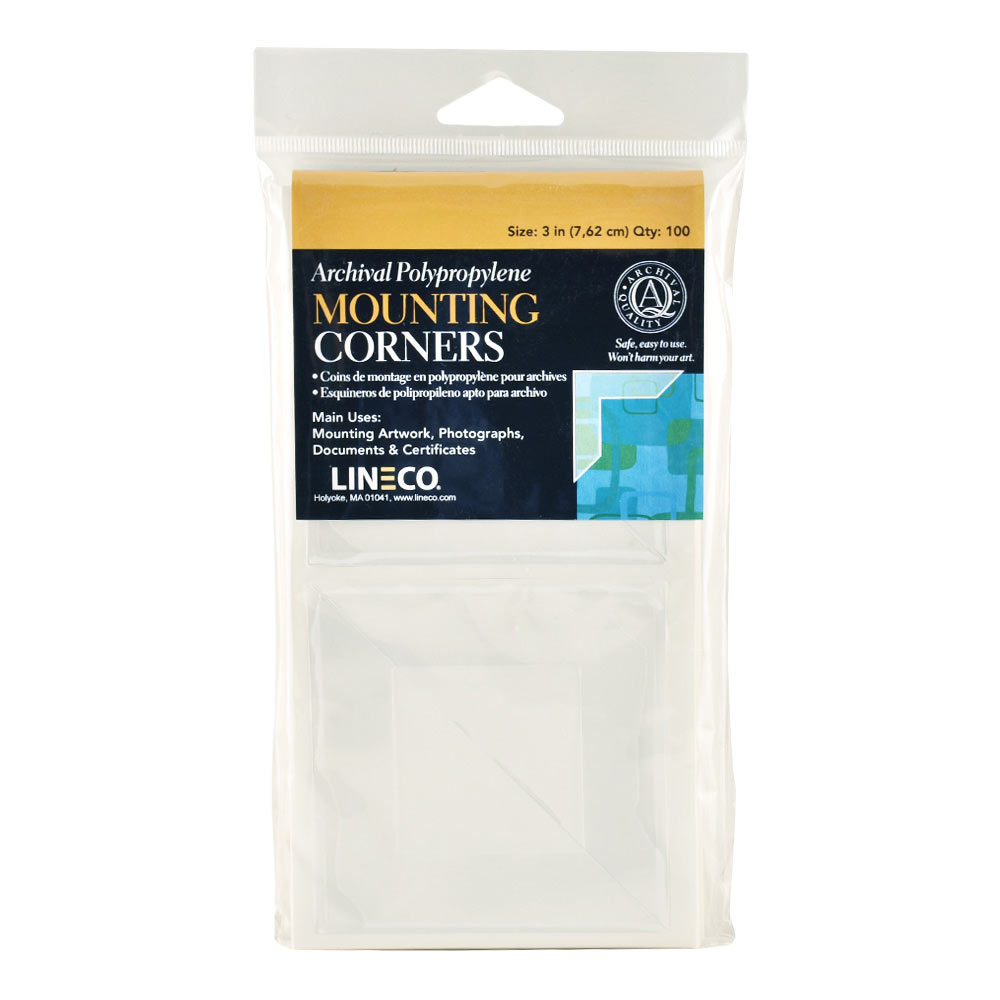 Polypropylene 3In Mounting Corners 100 Pkg