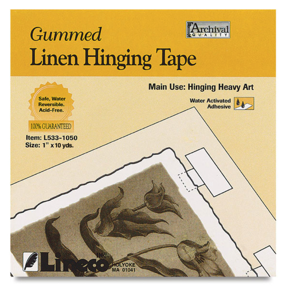 Linen Gummed Hinging Tape 1In X10Yds