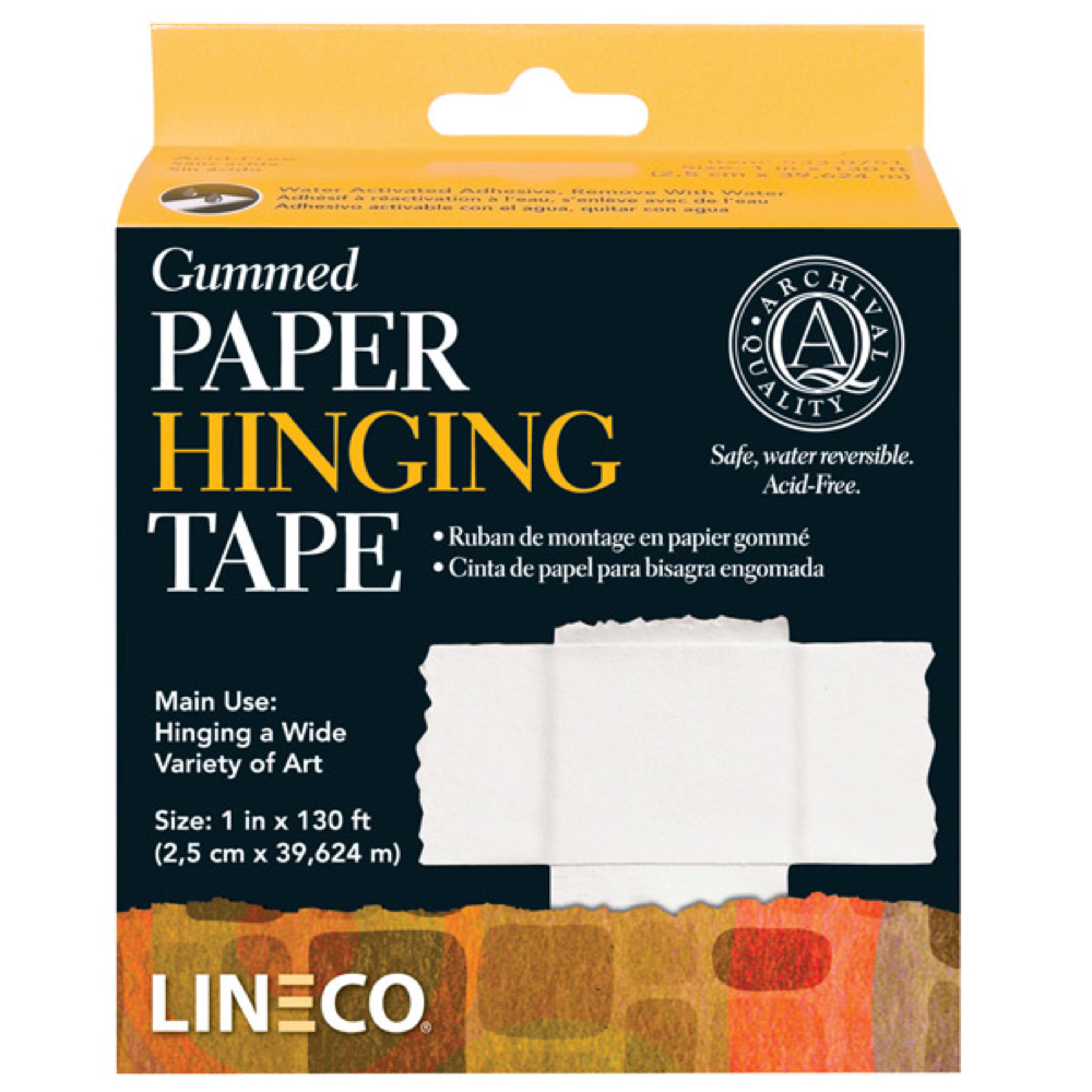Archival Gummed Paper Hinging Tape 1Inx130Ft