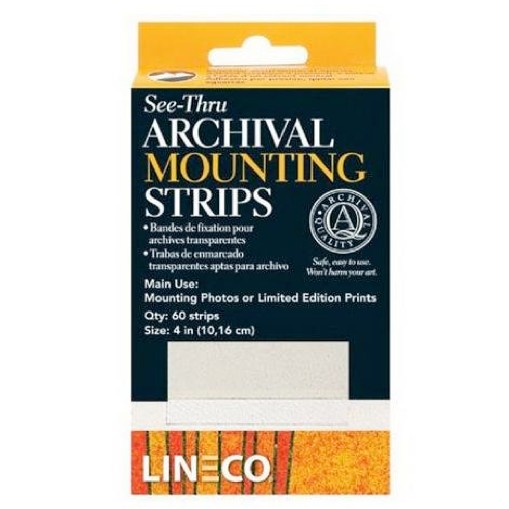 Archival See-Thru Mounting Strips Pkg 60