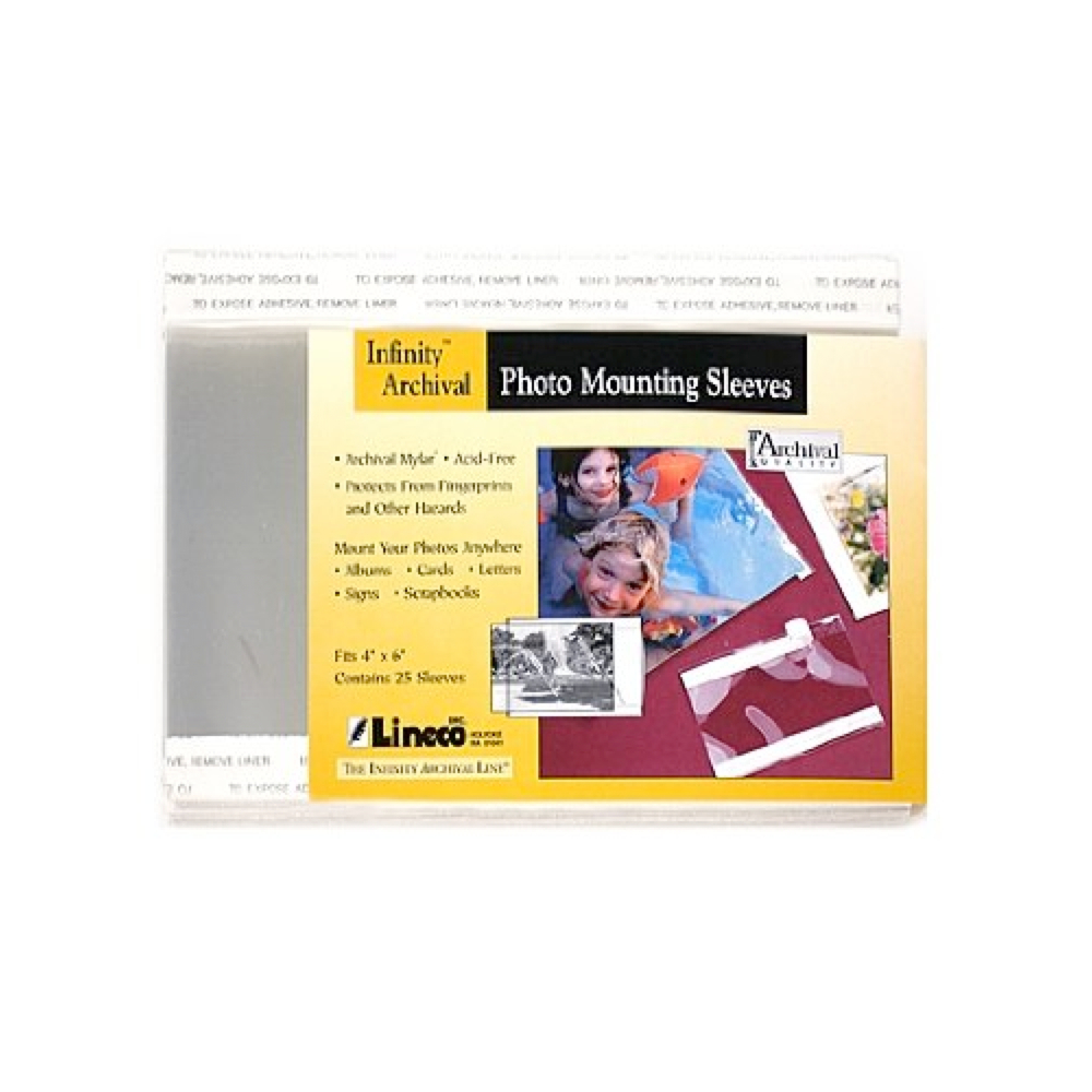 Photo Mounting Sleeve 4X6 Inch 25/Pk