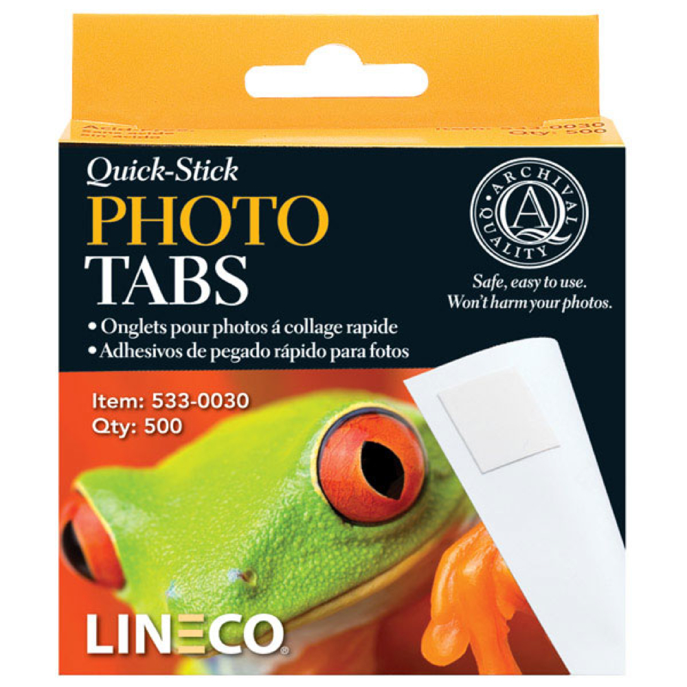 Lineco Infinity Photo Tabs Pkg 500