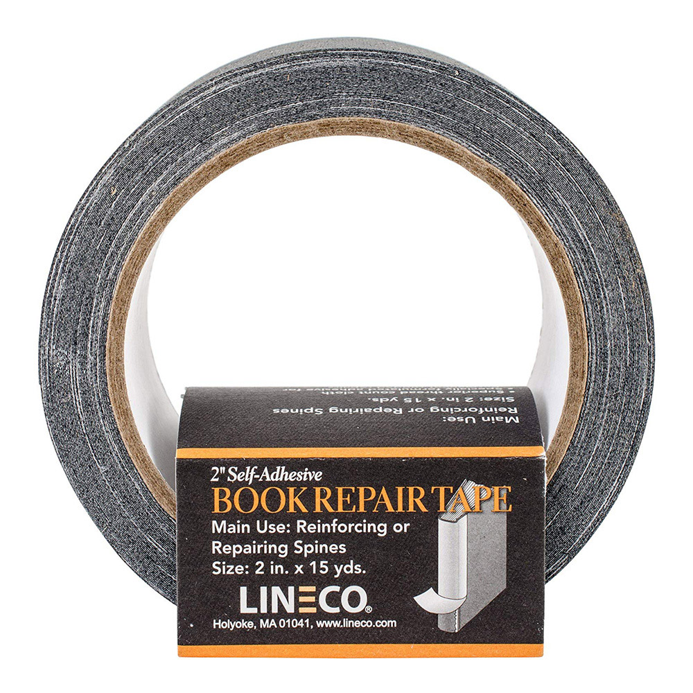 Book Cloth Black Repair Tape 2In X 45Ft