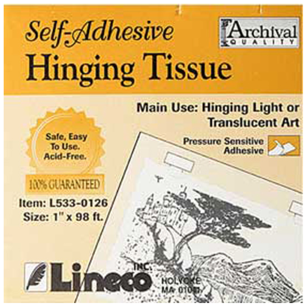 Self-Adhesive Hinging Tissue 1 Inch X 98 Ft