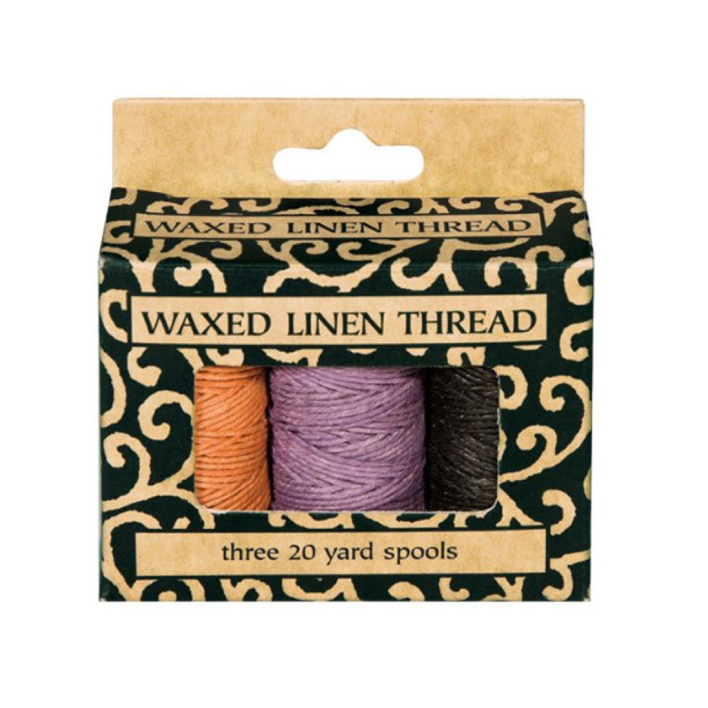 Lineco Waxed Linen Thread Set Of 3 Colors