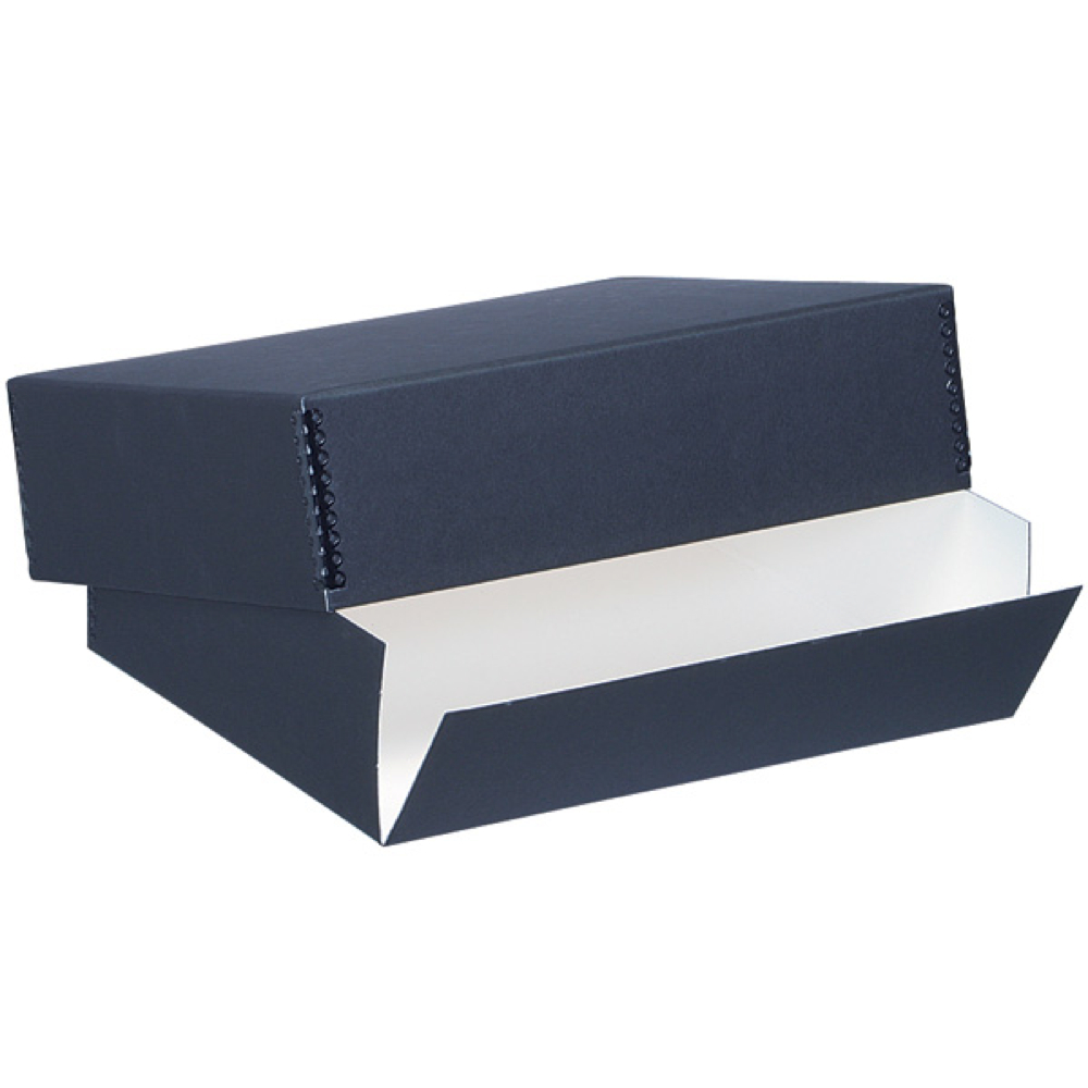 Lineco Museum Storage Box Black 9.5X12.5X3 In
