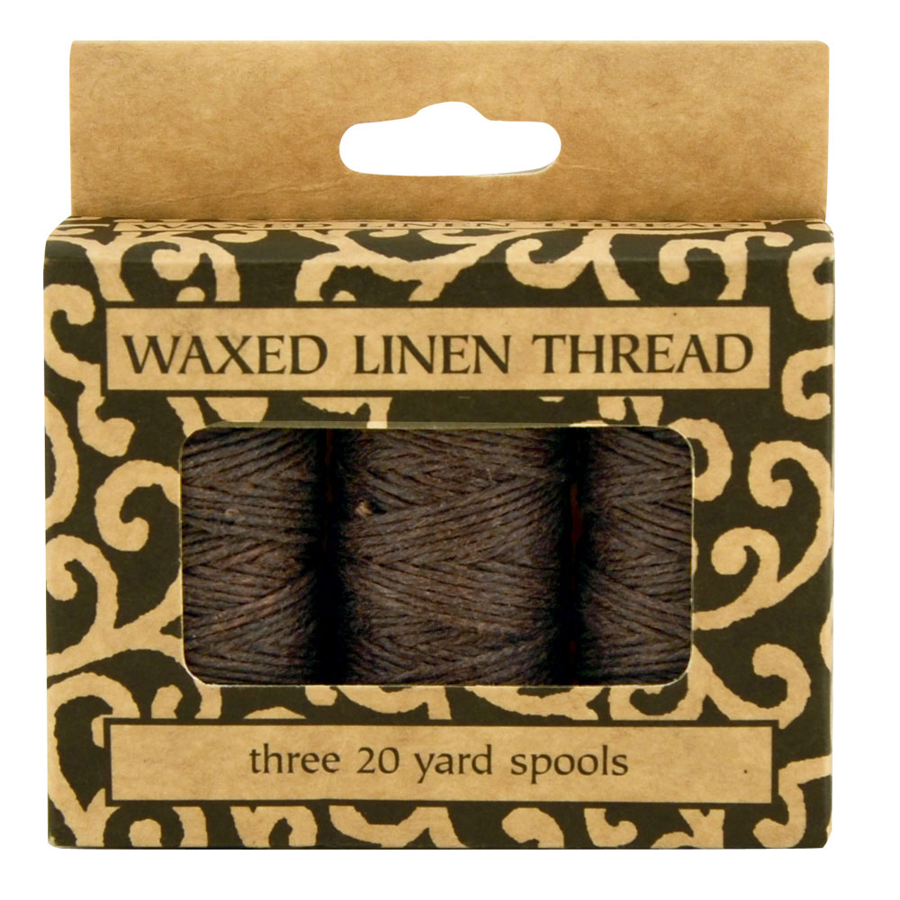 Lineco Waxed Linen Thread 3Pk Brown