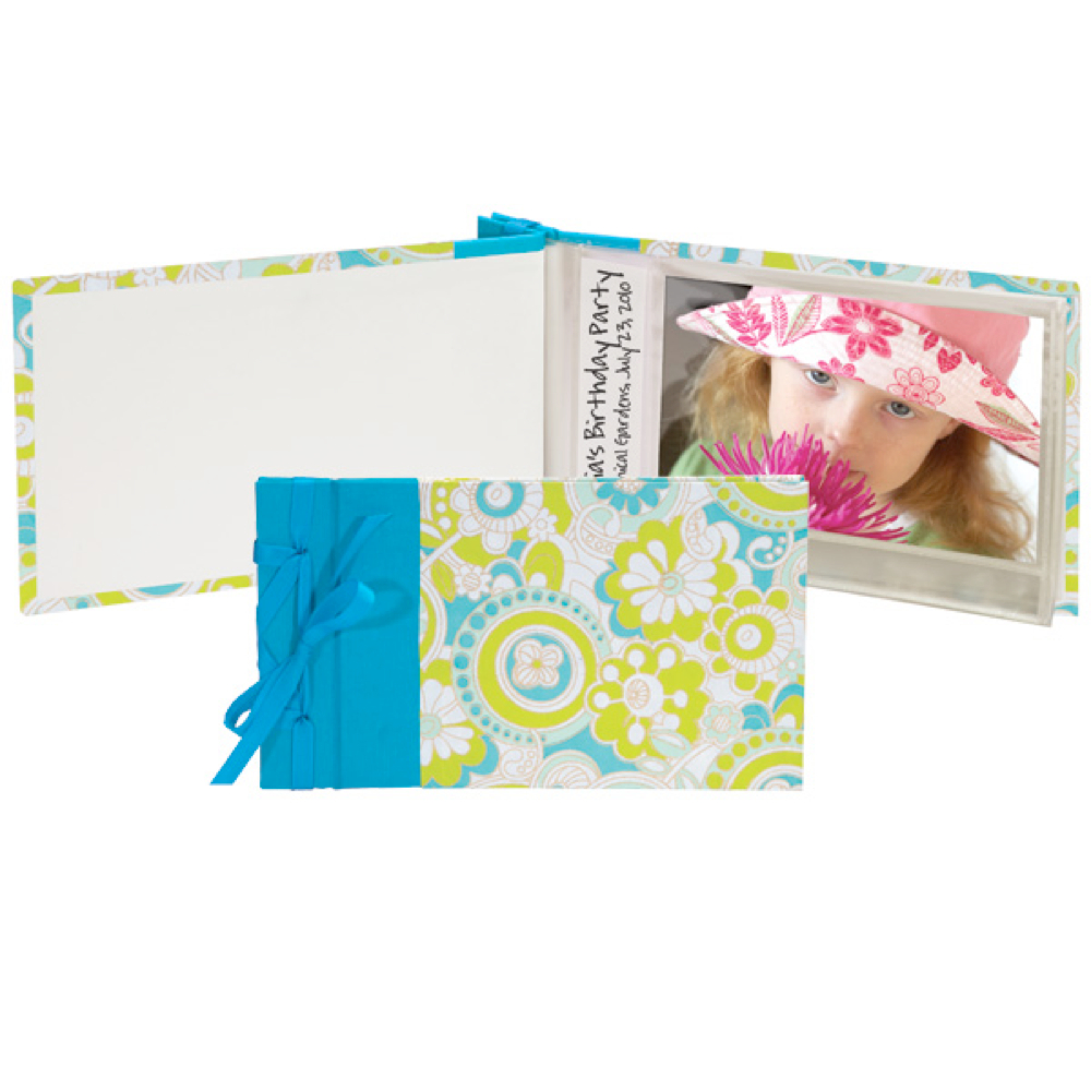 Lineco Ribbon Bound Brag Book Kit Turquoise