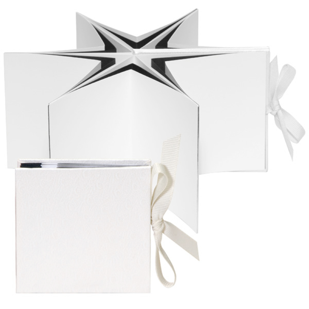 Lineco Star Two Book Kit White Ostrich