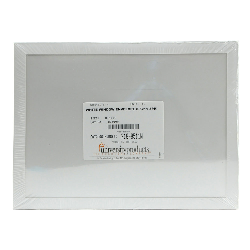 Lineco Window Envelope 8.5X11 White 3/Pkg