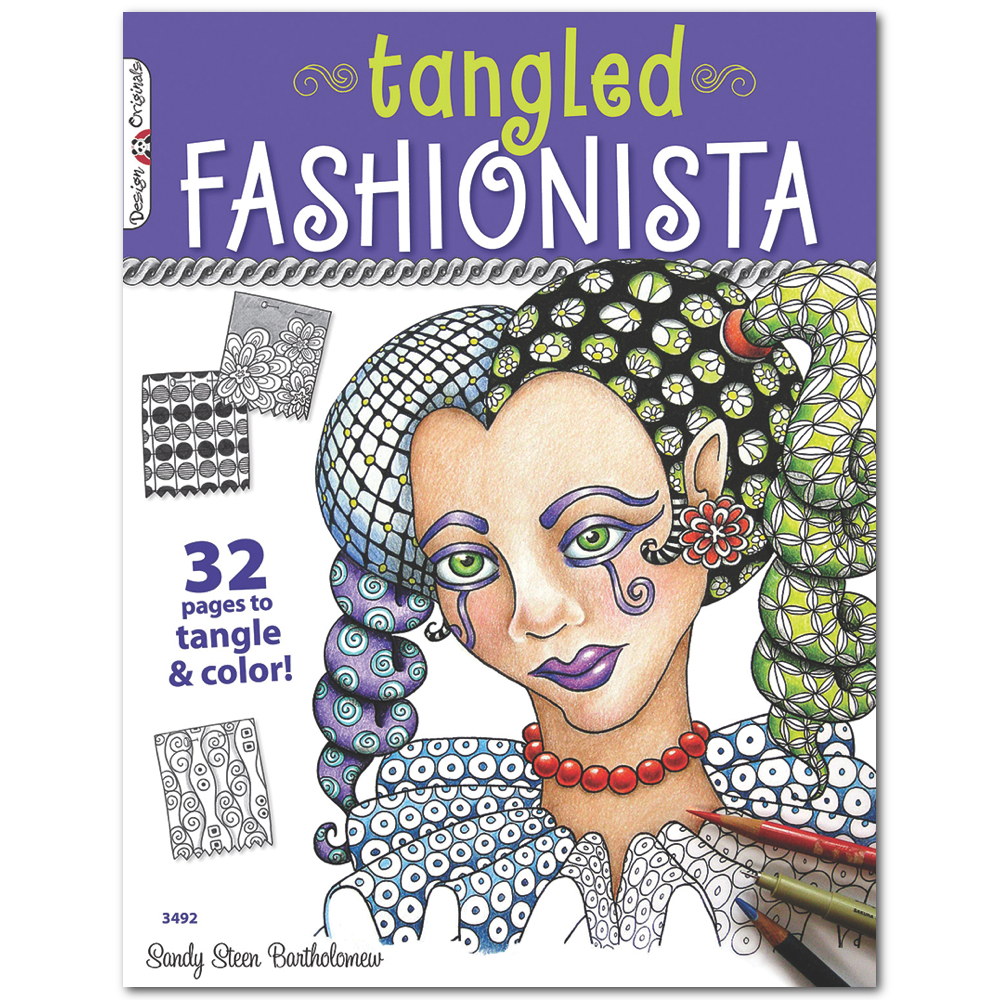 Zentangle Tangled Fashionista Book