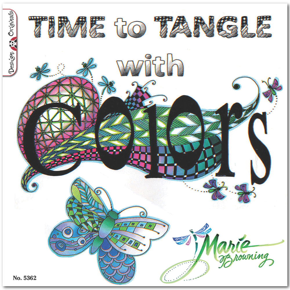 Zentangle Time To Tangle With Colors Book